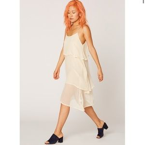 LACAUSA | Off White Layered Slip Dress